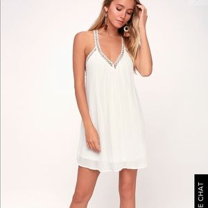 Lulu's White Crochet Dress (XS) (NWT)
